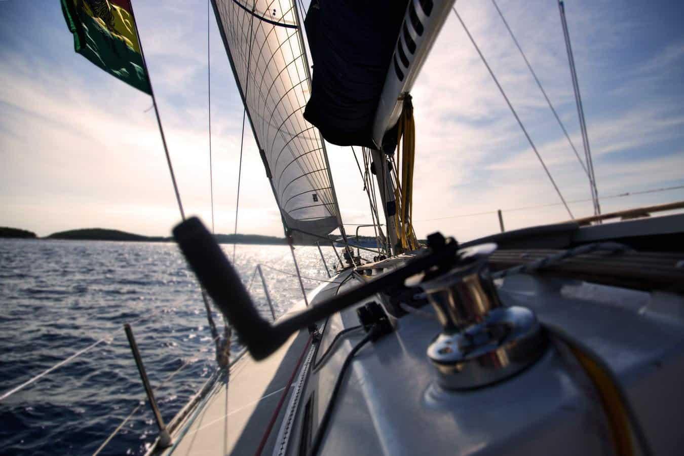 Close up shot of a sailboat