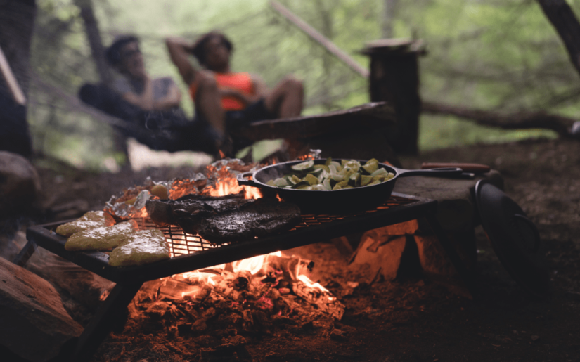 BBQ over a campfire
