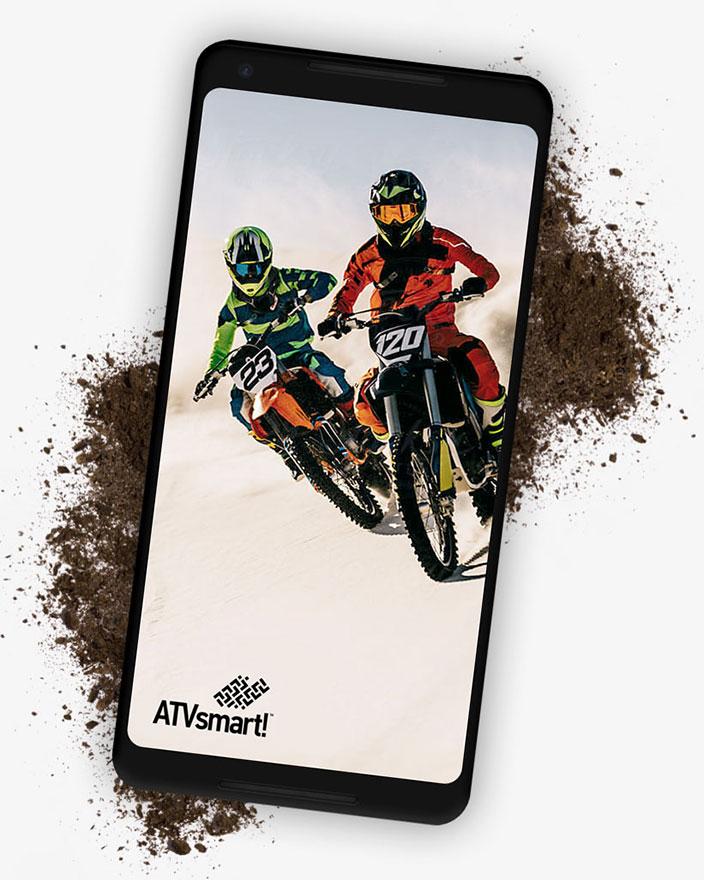 iphone showing ATVsmart! courseware