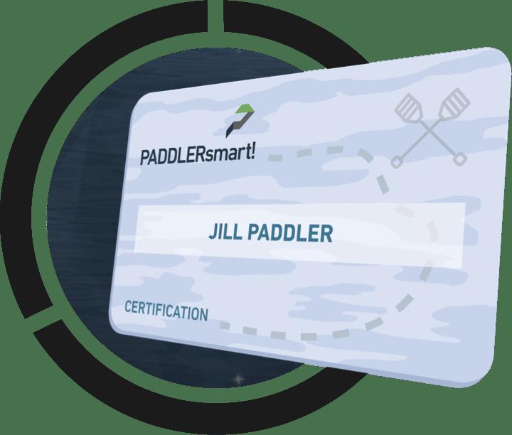 PADDLERsmart! Certification Card. 3 easy steps to become a safe paddler.